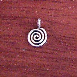 Lot of 4 Turkish Sterling Silver Spiral Charm 7 mm 1.2 gram
