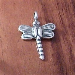 Turkish Sterling Silver Charm Pendant Dragonfly 23 mm 1.3 gram