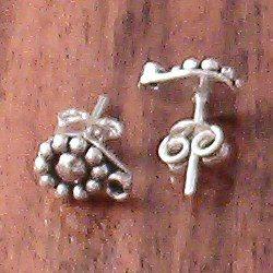 Pair of Turkish Sterling Silver Blank Post Stud Earrings 6 mm 1.4 gram