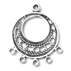 Pair of Telkari Sterling Silver Blank Earrings 3 cm 5 gram