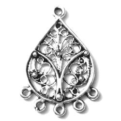 Pair of Sterling Silver Blank Earrings 29 mm 3.60 gram