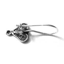 Pair of Sterling Silver Blank Fish Hook Earrings 25 mm 1.4 gram