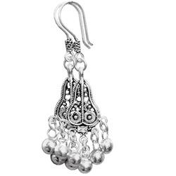 Full Sterling Silver Dangle Earrings 55 mm 6 gram