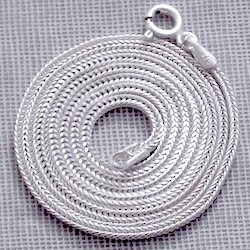 20 inch Turkish Silver Chain Fox Tail 1.5 mm 5 gram w/clasp