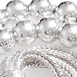 Turkish Islamic Prayer Beads Full Sterling Silver Tasbih 5 mm
