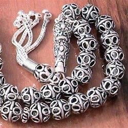 Full Sterling Silver Islamic Prayer Beads Tasbih 35 gram