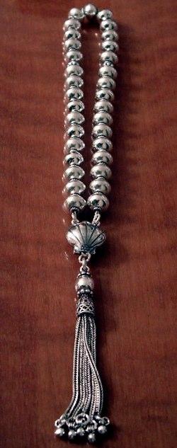 Full Sterling Silver Islamic Prayer Beads Tasbih 34 gram