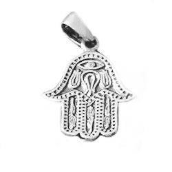 Turkish Sterling Silver Charm Pendant Hamsa 27 mm 3.6 gram