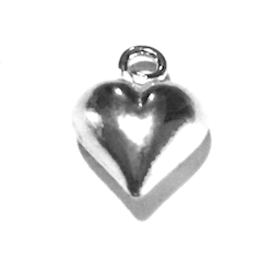 Lot of 2 Sterling Silver Charm Pendant Heart and Peace 11 mm 1.2 gram