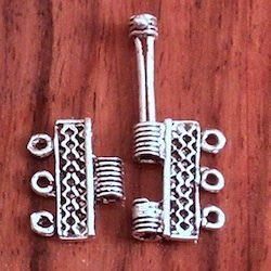 Turkish Sterling Silver Hinged Clasp for Bracelet 16 mm 2.5 gram