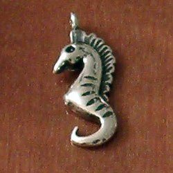 Turkish Sterling Silver Charm Sea Horse 25 mm 1.5 gram