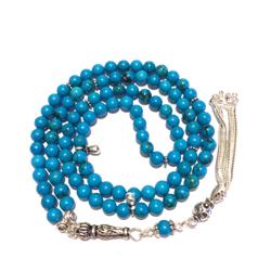 Islamic Prayer Beads 99 Howlite Tasbih silver tassel