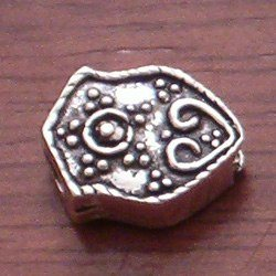 Turkish Sterling Silver Bead Imame 17 mm 4 gram