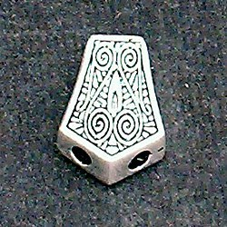 Turkish Sterling Silver Bead Imame 2 cm 5.5 gram