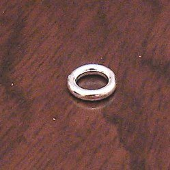 Lot of 2 Turkish Sterling Silver Closed Jump Ring 1 cm 1.4 gram