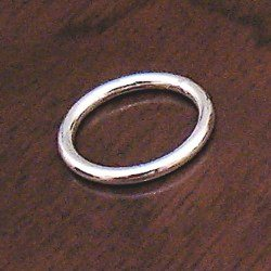 Turkish Sterling Silver Closed Jump Ring 15 mm 1.5 gram