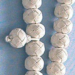 Turkish Pure Silver Mesh Islamic Prayer Beads 99 Tasbih 108 gram detail