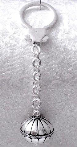 Turkish Full Sterling Silver Keychain Keyring 16.5 gram 9 cm