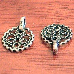 Lot of 2 Turkish .925 Silver Charm Telkari 1 cm 1 gram