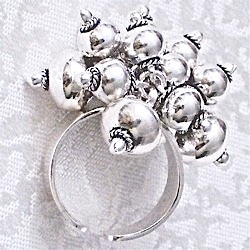 Turkish Full Sterling Silver Cluster Ring Sz 7 N 14 Fits All 16 gram