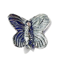 Sterling Silver Butterfly Rondelle Bead Spacer 15 mm 1.6 gram