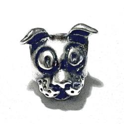Sterling Silver Dog Rondelle Bead Spacer 10 mm 1.7 gram