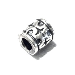 Sterling Silver Rondelle Bead Spacer 6x5 mm 1.6 gram