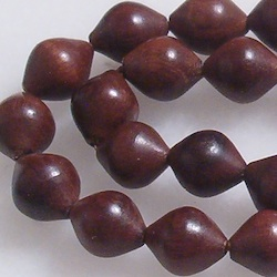 Turkish Rose Wood Islamic Prayer Beads Tasbih 33 Shiny