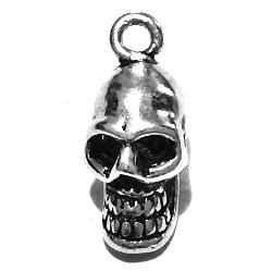 Sterling Silver Charm Pendant Skull 18 mm 1.4 gram