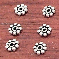 Lot of 10  Turkish Sterling Silver Spacer Bead 4 mm 1 gram