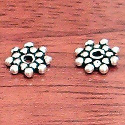 Lot of 3 Turkish Sterling Silver Spacer Bead 8 mm 1.2 gram