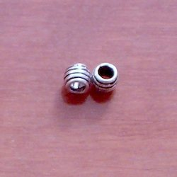 Sterling Silver Rondelle Beads 4 mm 1.2 gram