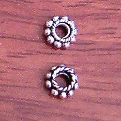 Lot of 2 Turkish Sterling Silver Spacer Bead 8 mm 1 gram