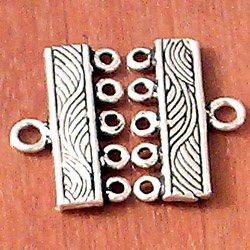 Turkish Sterling Silver Single Strand End 19 mm 1.4 gram