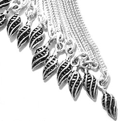 Turkish Sterling Silver Tassel 6 in 15 cm 45 gram detail 2