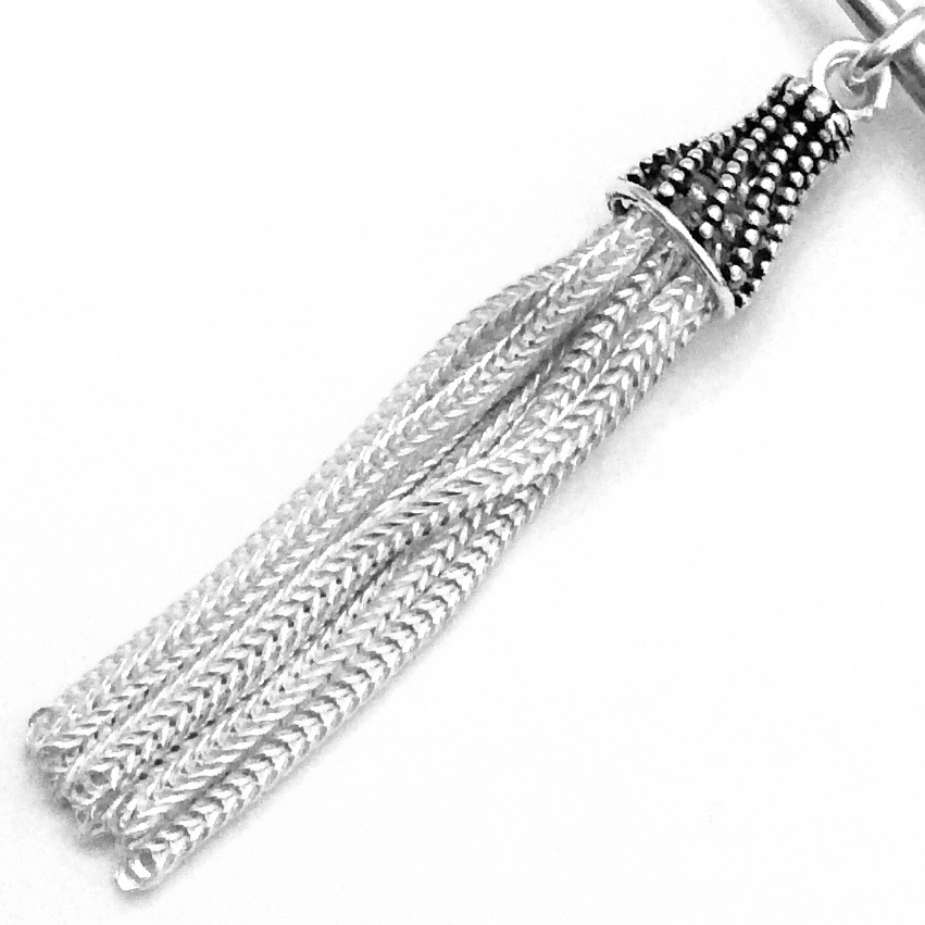 Turkish Sterling Silver Simple Tassel 4.5 cm 3.85 gram