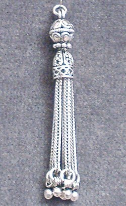 Turkish Sterling Silver Bead Tassel 5 cm 5.5 gram