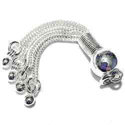 Turkish Sterling Silver Bead Tassel 8 mm 5 cm 4 gram