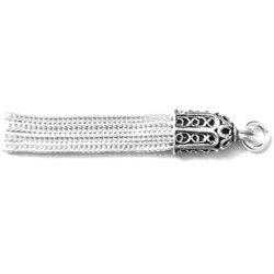 Turkish Sterling Silver Charm Flat Tassel 35 mm 2 gram
