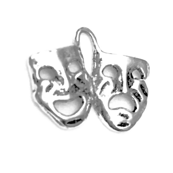 Sterling Silver Charm Pendant Skull and Bones 1 inch 2.80 gram