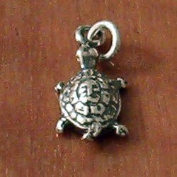 Turkish Sterling Silver Charm Tortoise 18 mm 1.1 gram