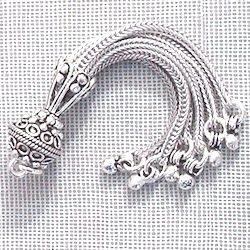 Turkish Sterling Silver Bead Tassel 7.5 gram 7 cm