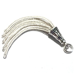 Turkish Sterling Silver Simple Tassel 45 mm 2.7 gram