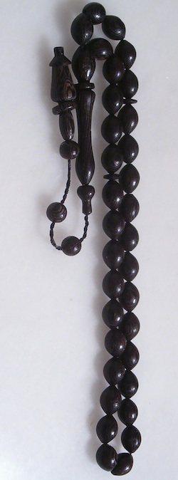 Turkish Islamic Prayer Beads Wenge Tasbih w/Rings