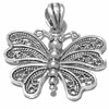 Sterling silver butterfly filigree pendant 28 mm 4 gram ID # 6776