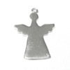 Sterling Silver Blank Label Tag for Marking Angel Charm 35 mm 3 gram ID # 6446