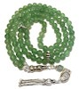 Islamic Prayer Beads 99 Namaz Tasbih Aventurine 6.5 mm w/ silver ID # 6750