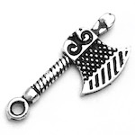 Sterling Silver Charm Pendant Axe 2 cm 0.85 gram ID # 6943