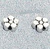 Lot of 2 Sterling Silver Bead Flat 7 mm 1.7 gram ID # 3016