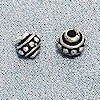 Lot of 2 Sterling Silver Bead 5 mm 1 gram ID # 3019